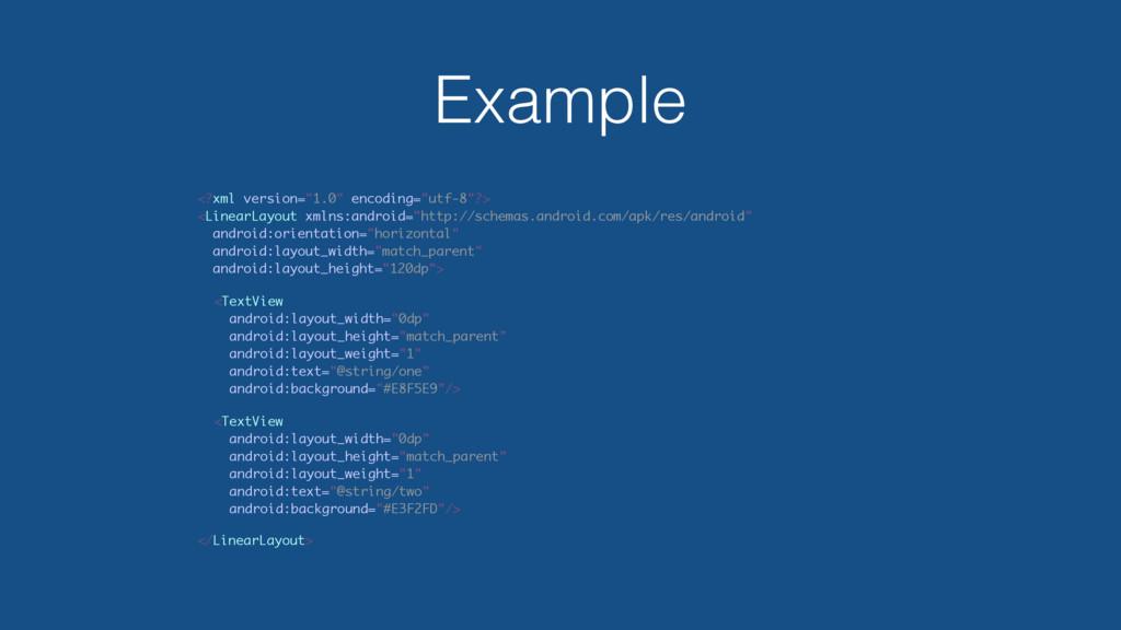 """Example <?xml version=""""1.0"""" encoding=""""utf-8""""?> ..."""