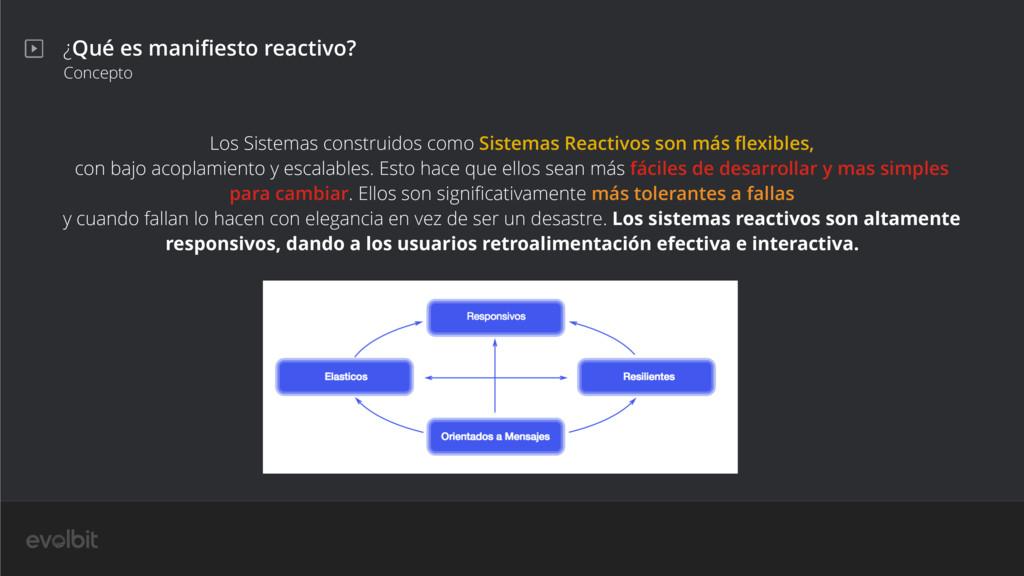 ¿Qué es manifiesto reactivo? Concepto Los Sistem...