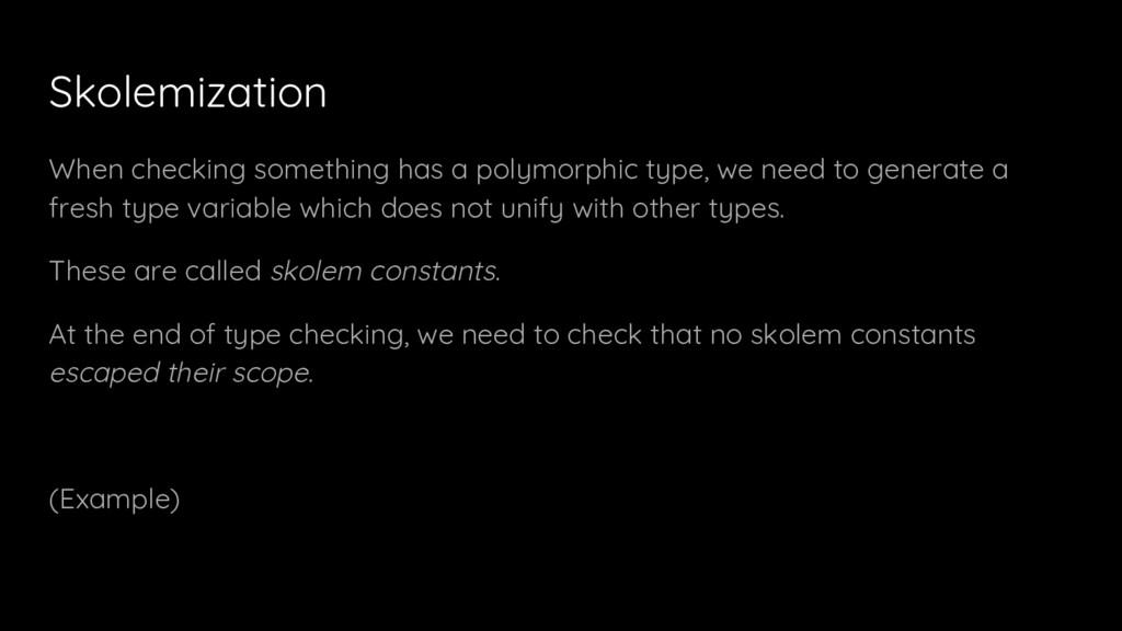 Skolemization When checking something has a pol...