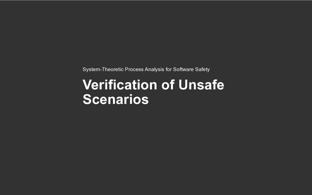 Verification of Unsafe Scenarios System-Theoret...