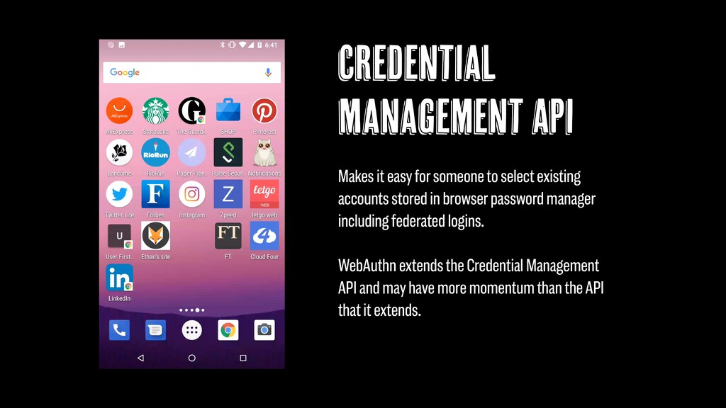 Credential Management API Makes it easy for som...