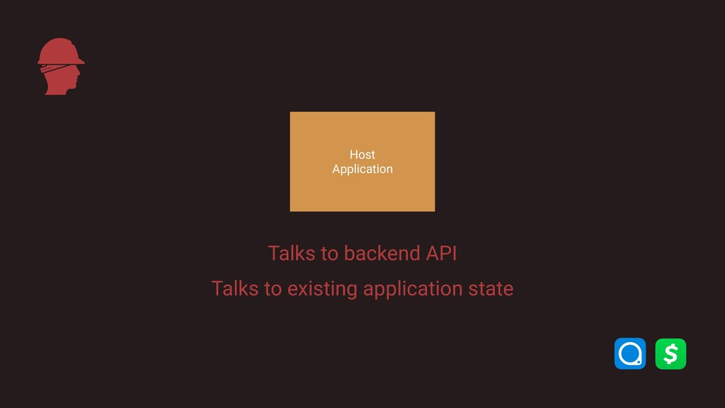 Host Application Talks to backend API Talks to...