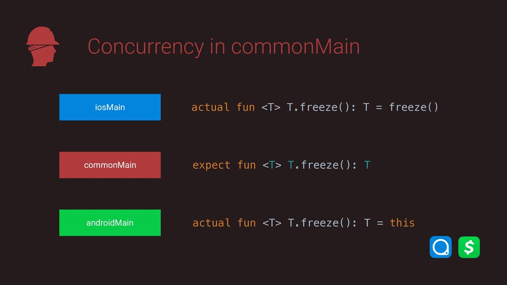 Concurrency in commonMain commonMain iosMain an...