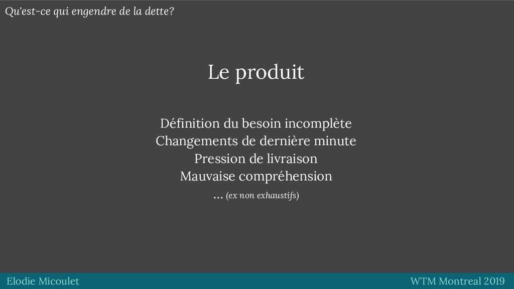 Elodie Micoulet WTM Montreal 2019 Le produit Dé...