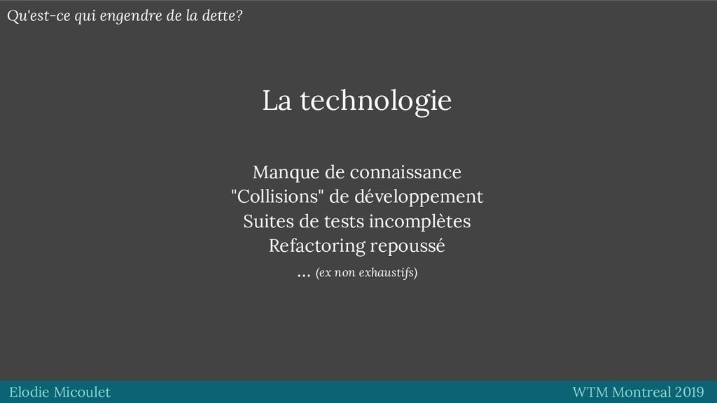 Elodie Micoulet WTM Montreal 2019 La technologi...