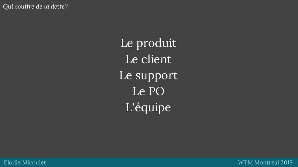 Elodie Micoulet WTM Montreal 2019 Le produit Le...