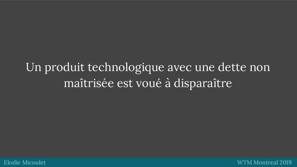Elodie Micoulet WTM Montreal 2019 Un produit te...