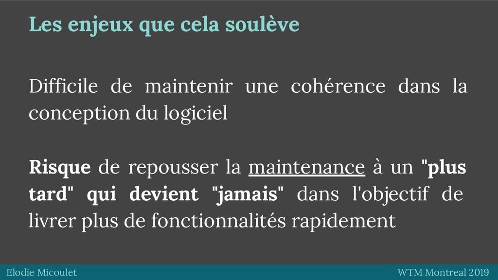 Elodie Micoulet WTM Montreal 2019 Les enjeux qu...