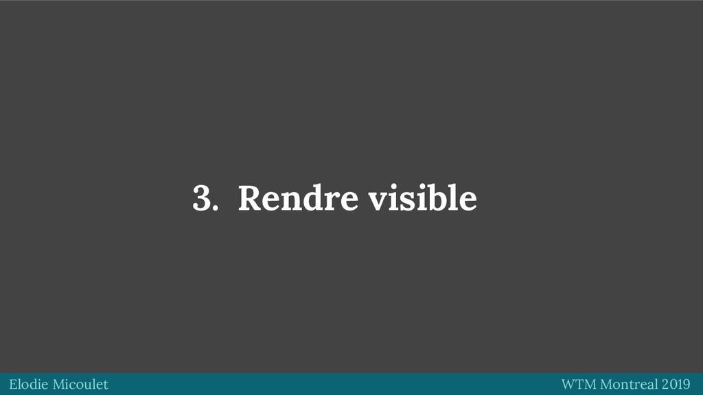 Elodie Micoulet WTM Montreal 2019 3. Rendre vis...