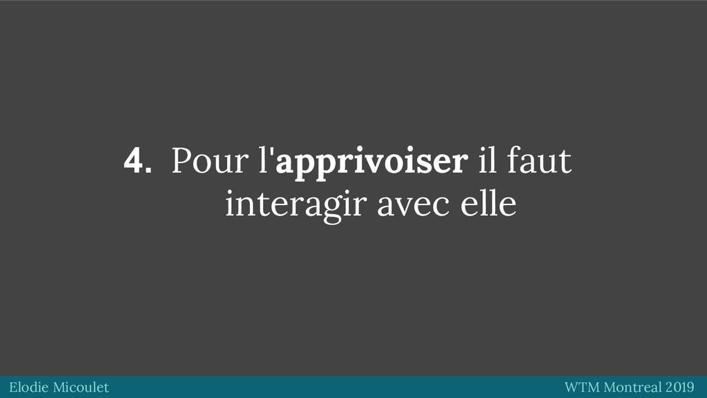 Elodie Micoulet WTM Montreal 2019 4. Pour l'app...