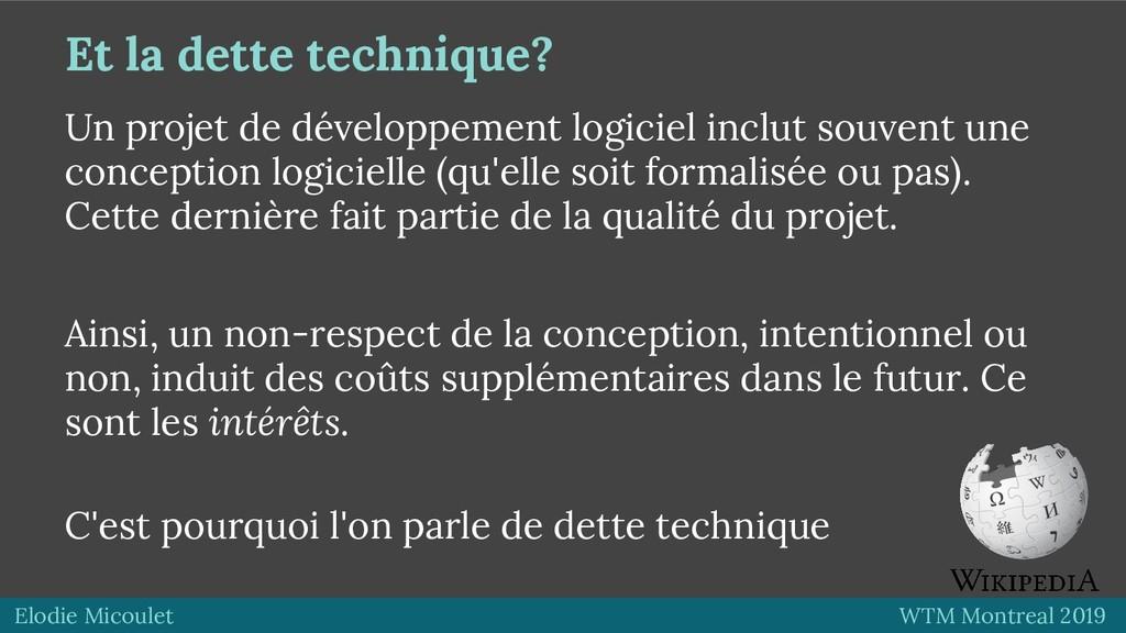 Elodie Micoulet WTM Montreal 2019 Et la dette t...
