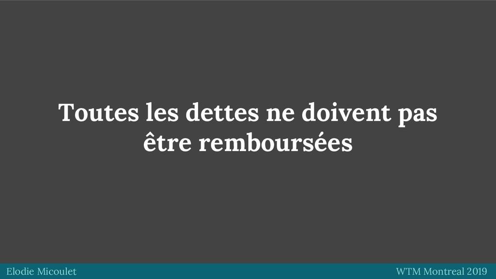 Elodie Micoulet WTM Montreal 2019 Toutes les de...