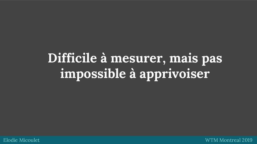 Elodie Micoulet WTM Montreal 2019 Difficile à m...