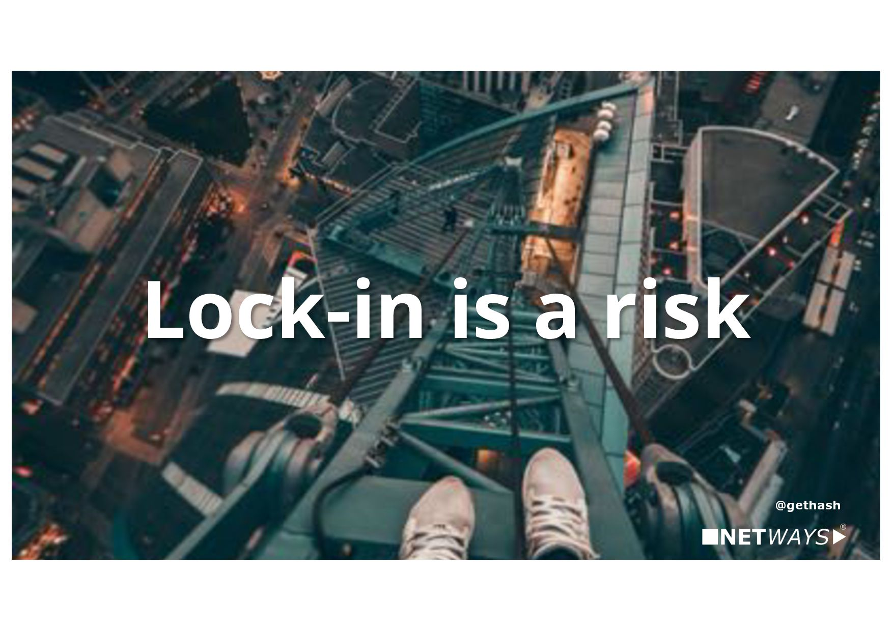Slowness is a risk too