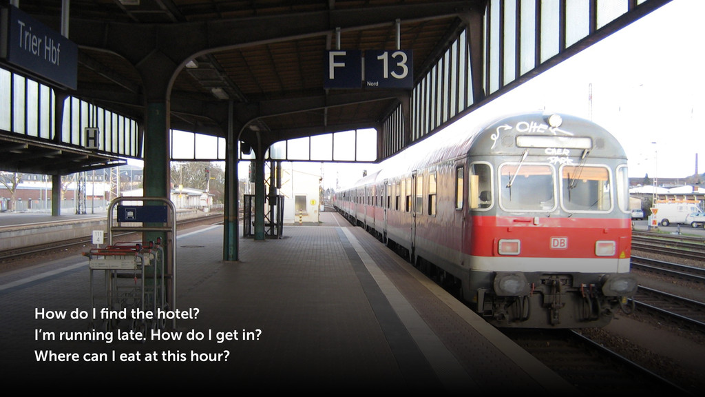 How do I find the hotel? I'm running late. How d...