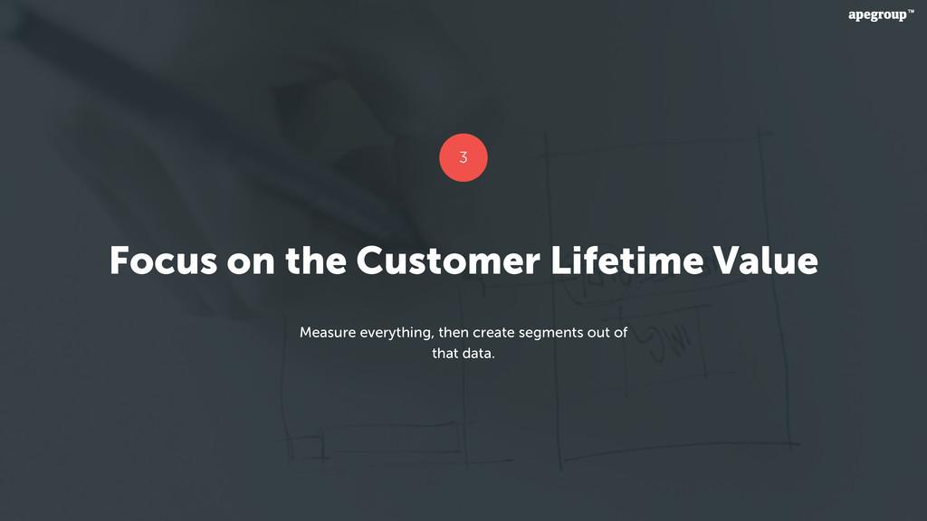 Focus on the Customer Lifetime Value Measure ev...