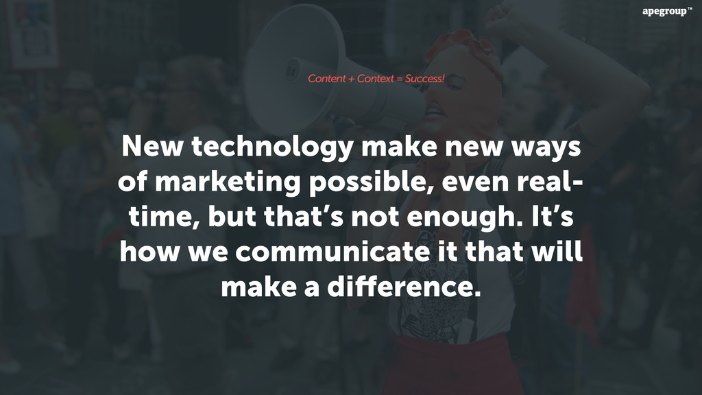 New technology make new ways of marketing possi...