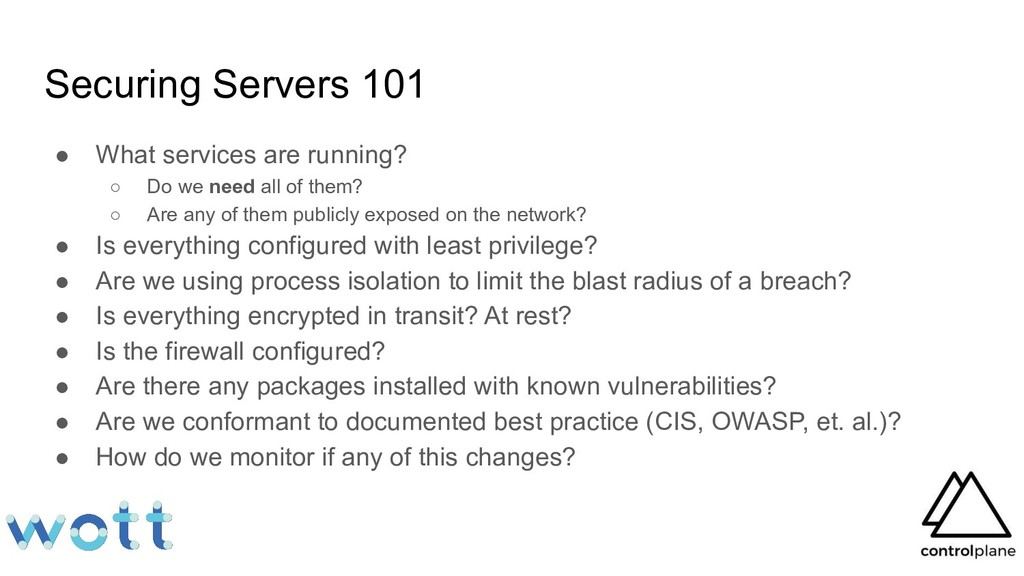Securing Servers 101 ● What services are runnin...