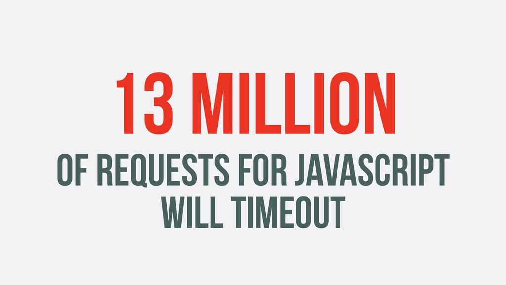 13 MILLION OF REQUESTS FOR JAVASCRIPT WILL TIME...