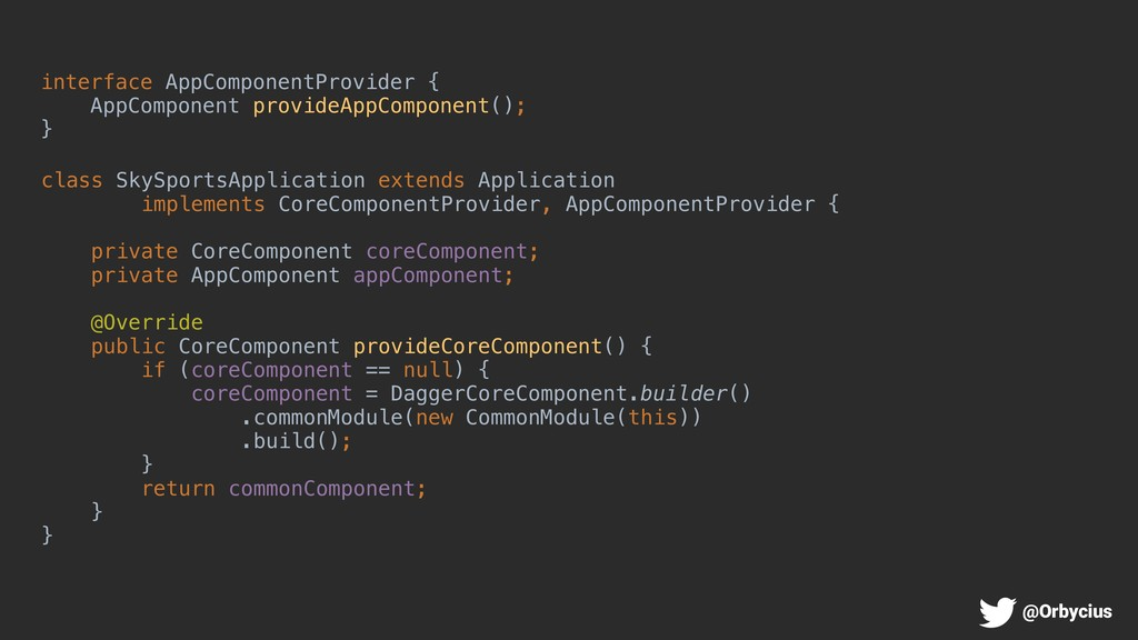 interface AppComponentProvider { AppComponent p...