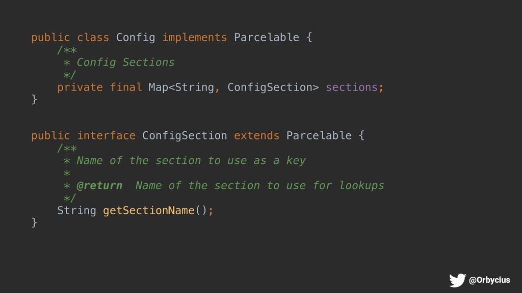 public class Config implements Parcelable { /**...