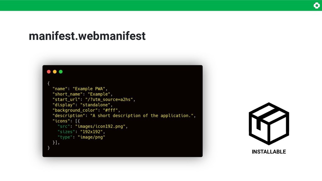 manifest.webmanifest INSTALLABLE