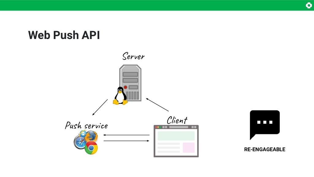 Web Push API RE-ENGAGEABLE Server Push service ...