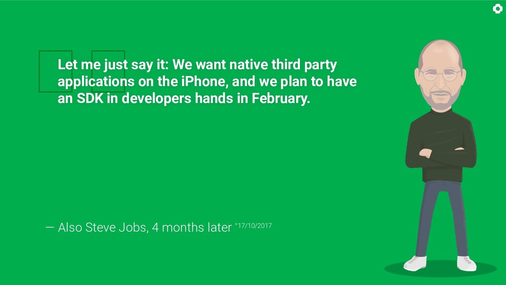 Let me just say it: We want native third party...