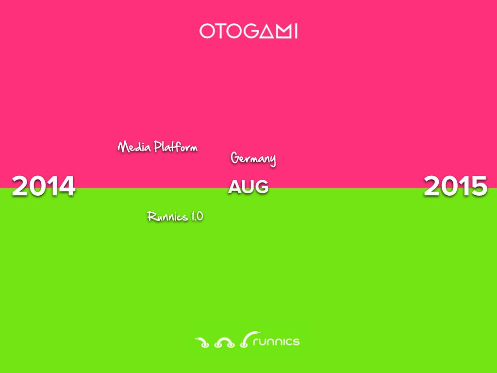 2014 2015 AUG Media Platform 0unnicC 1.% *ermanG