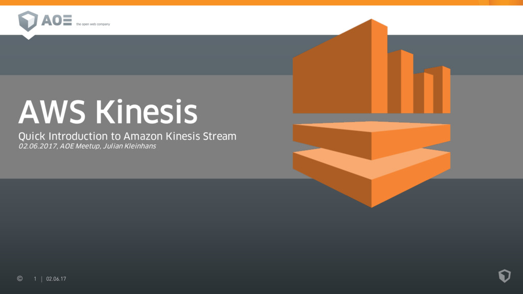 1 02.06.17 AWS Kinesis Quick Introduction to Am...