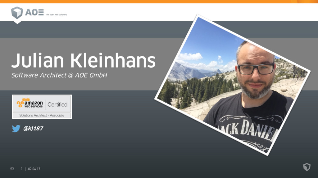 2 02.06.17 Julian Kleinhans Software Architect ...