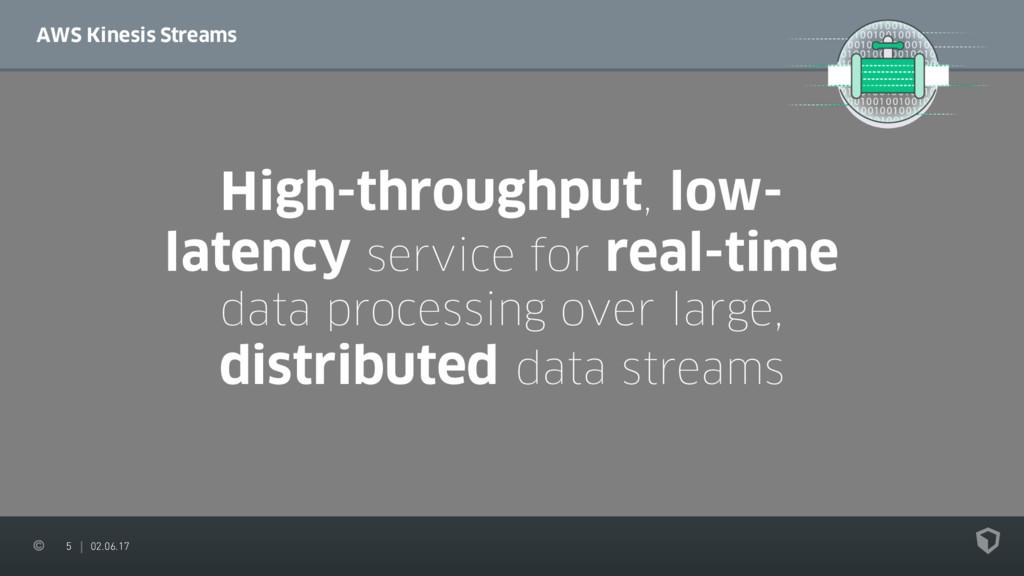 5 02.06.17 AWS Kinesis Streams High-throughput,...
