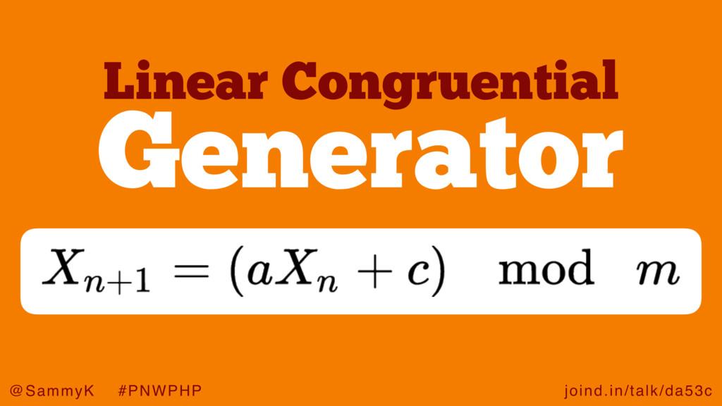 joind.in/talk/da53c @SammyK #PNWPHP Generator L...