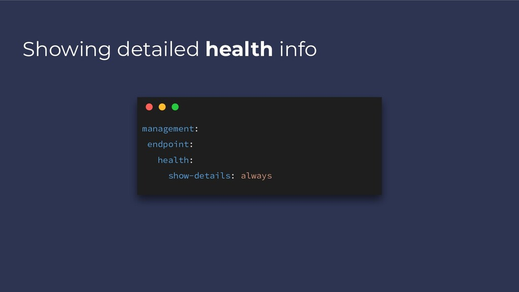 Showing detailed health info management: endpoi...