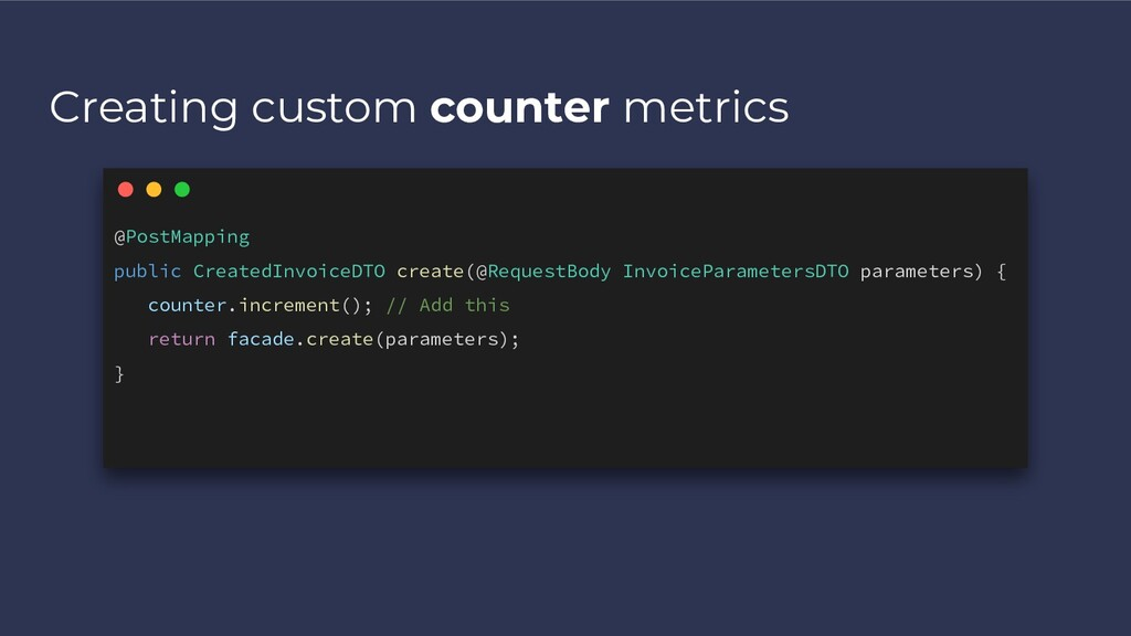 Creating custom counter metrics @PostMapping pu...