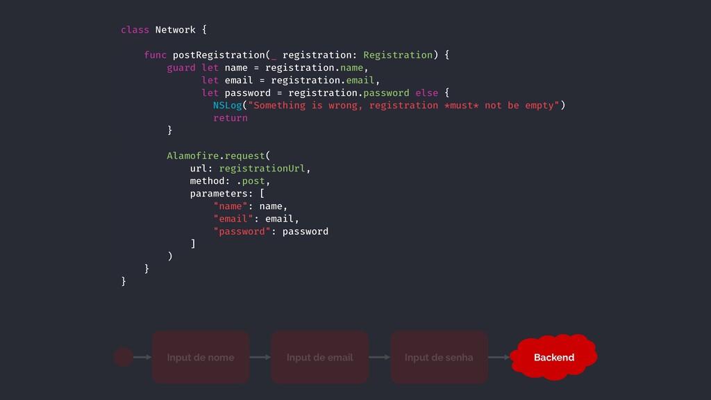 class Network { func postRegistration(_ registr...