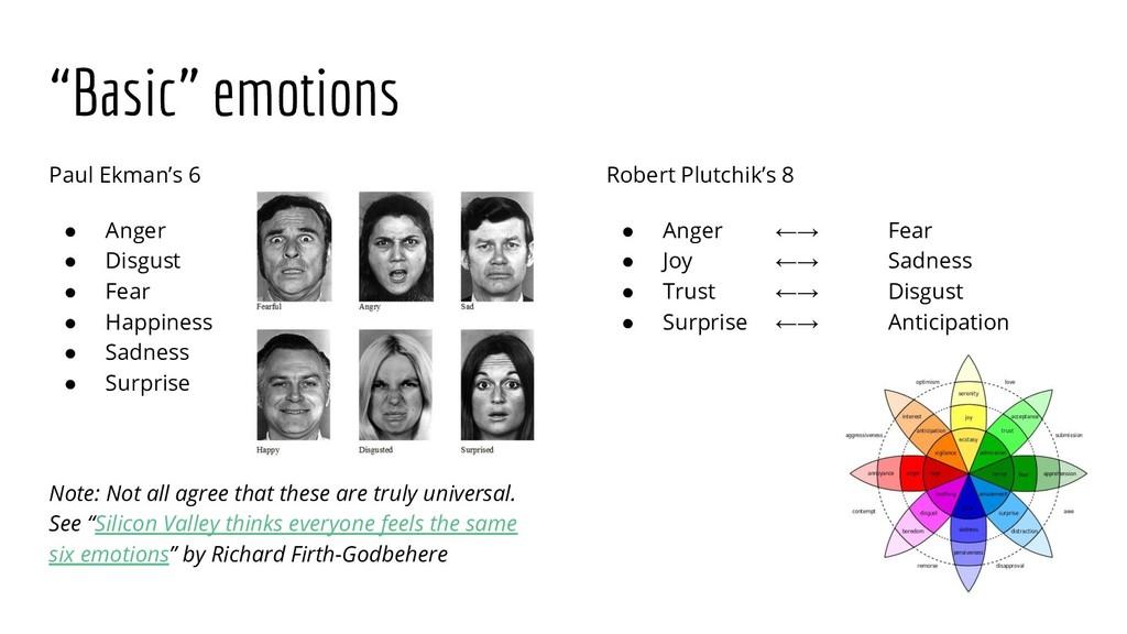 """Basic"" emotions Paul Ekman's 6 ● Anger ● Disgu..."
