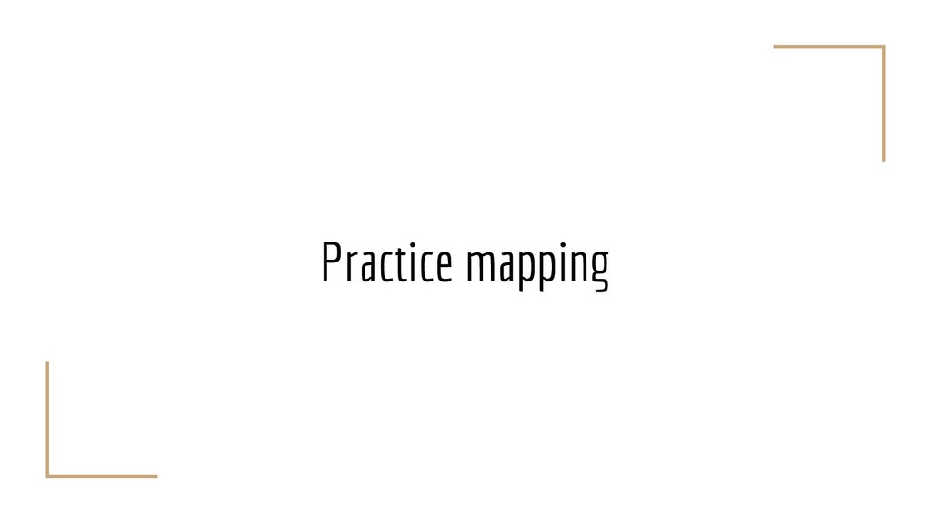 Practice mapping