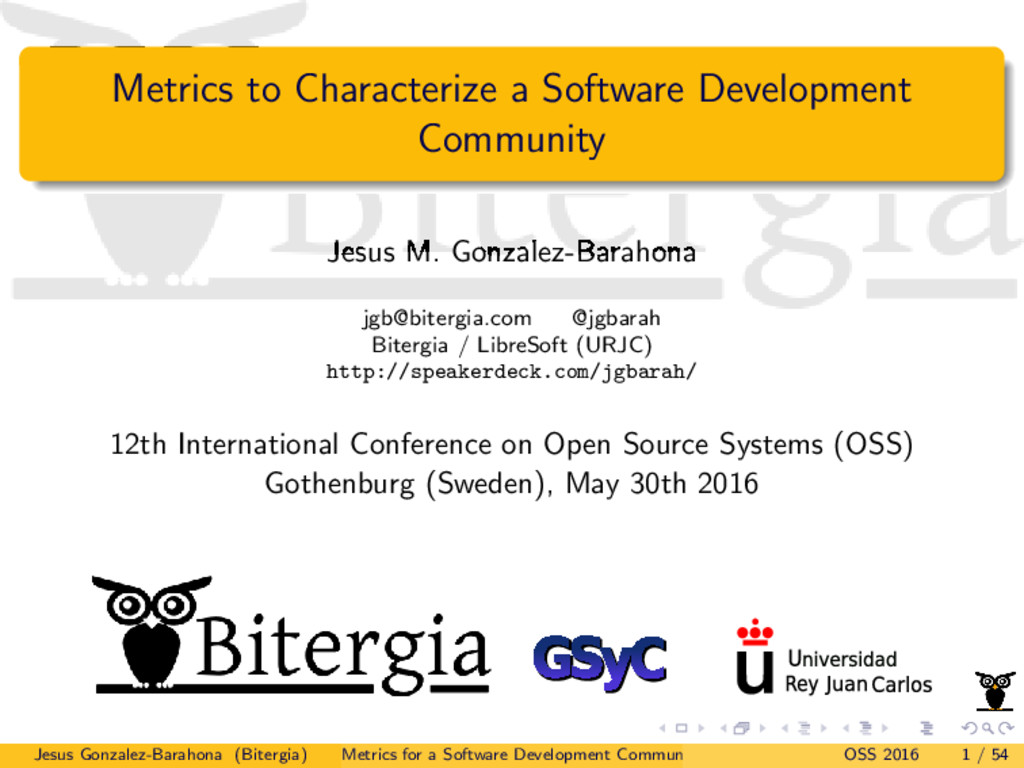 Metrics to Characterize a Software Development ...