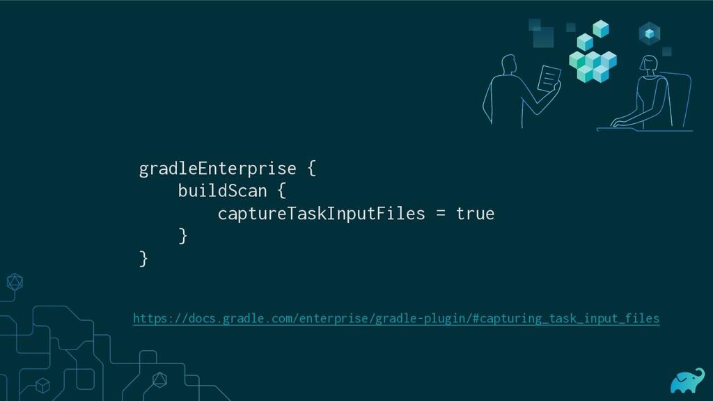 gradleEnterprise { buildScan { captureTaskInput...