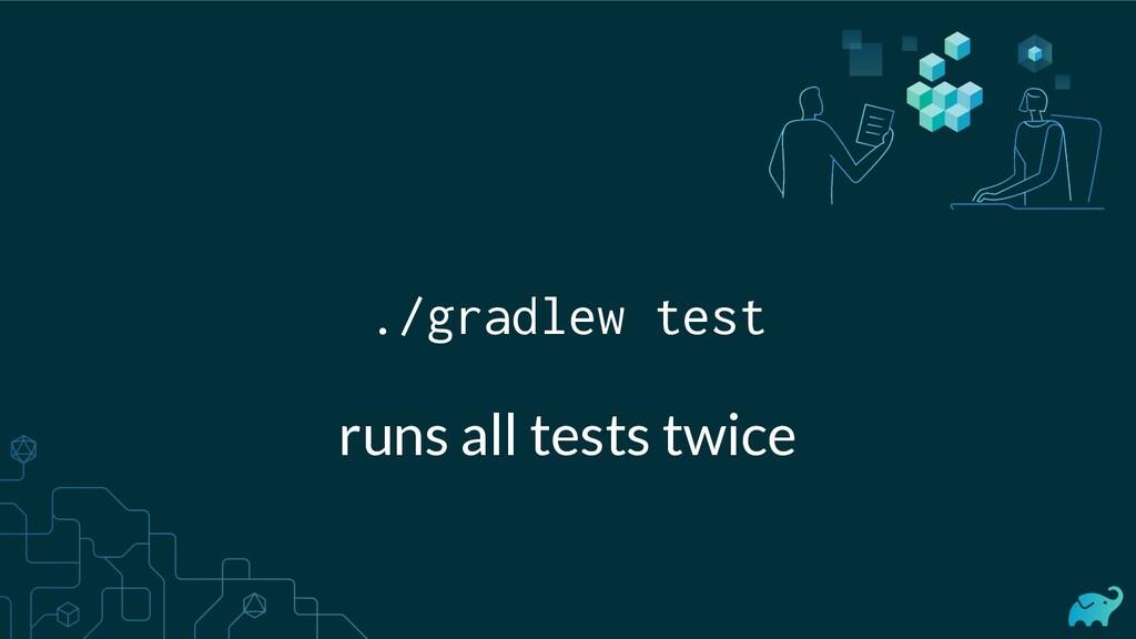 ./gradlew test runs all tests twice