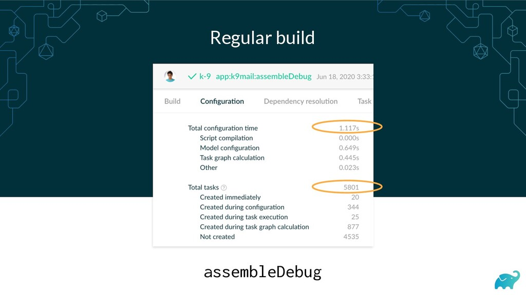 Regular build assembleDebug