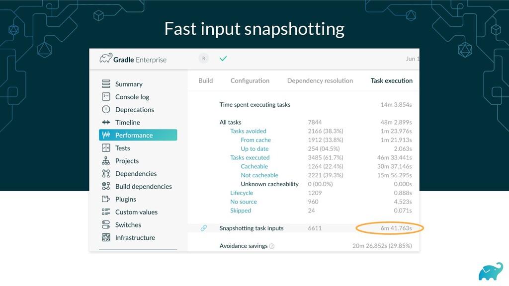 Fast input snapshotting