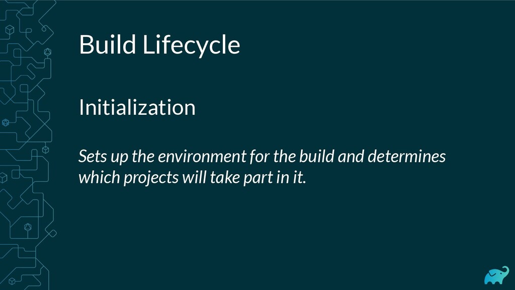 Build Lifecycle Initialization Sets up the envi...