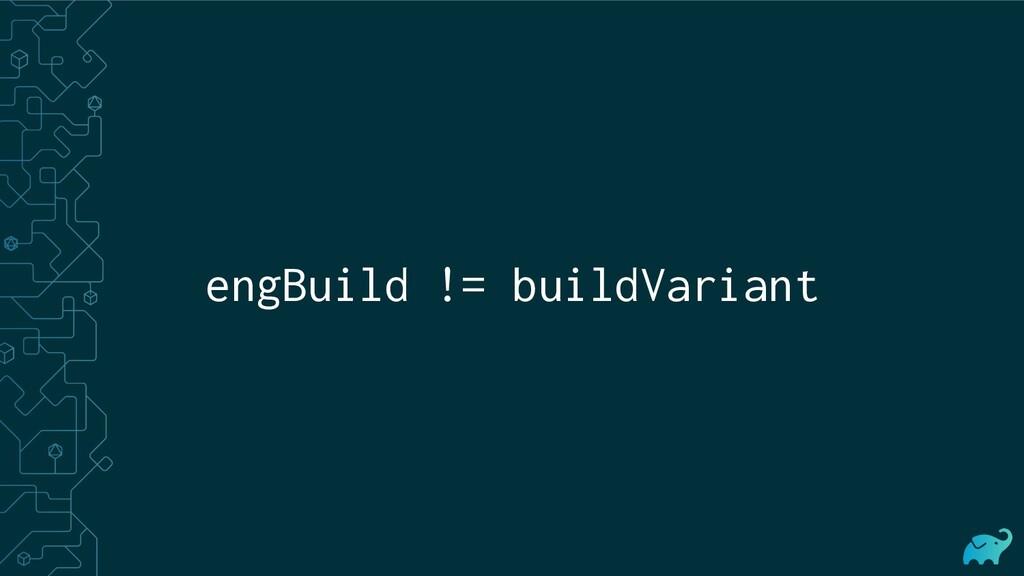 engBuild != buildVariant