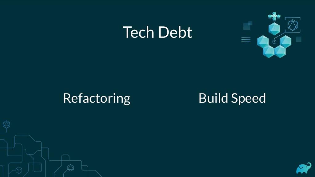 Tech Debt Refactoring Build Speed