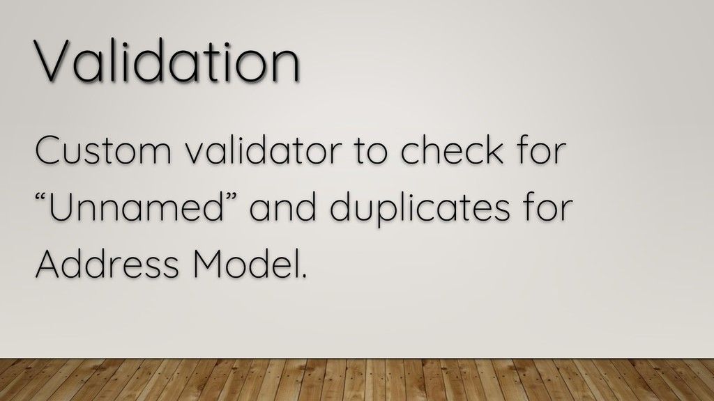"Validation Custom validator to check for ""Unnam..."