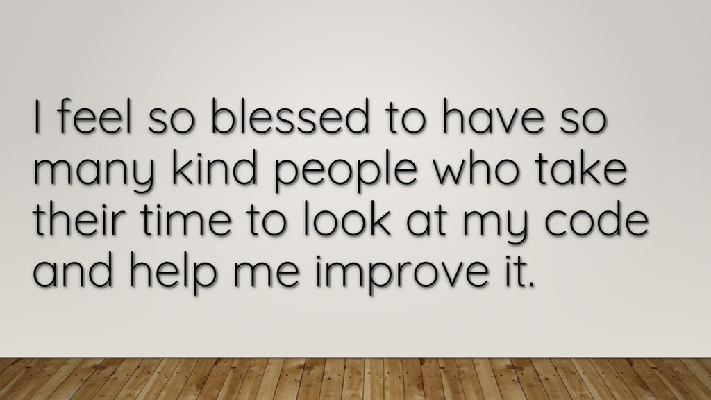 I feel so blessed to have so many kind people w...