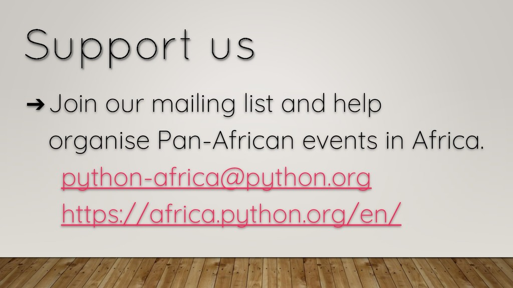 ➔Join our mailing list and help organise Pan-Af...