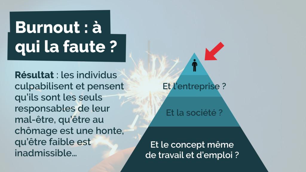Burnout : à qui la faute ? Et l'entreprise ? Et...